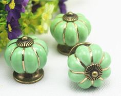 Green Ceramic Knob Indian Cabinet Hardware Dresser Handle Drawer Puller  Decorative Knobs 1 Pair CDN524 | Drawer Knobs | Pinterest | Cabinet Hardware,  ...