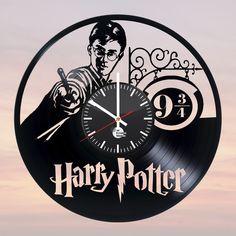wall clock design 422282902561838617 - Harry Potter Platform 9 Handmade Vinyl Record Wall Clock – VINYL CLOCKS Source by colettespeedy
