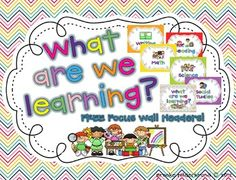 FREE Focus Wall Headers in 7 designs to match any classroom!