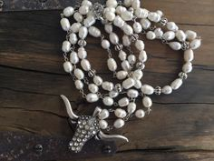 Pearl Longhorn Necklace