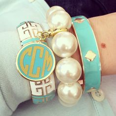 Monogram Bangle Stack... Absolutely love this! Want my sons initials!