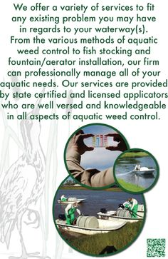 We will make your waterway pristine!   Call us at 407-878-6655 or visit us at http://www.SouthernAquaticMgmt.com