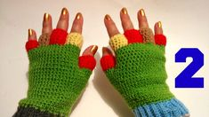GUANTE TEJIDO CROCHET,PARTE 2 /HOW TO KNIT HALF FINGER GLOVES