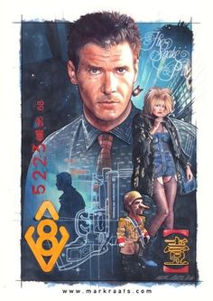 Blade Runner poster by Mark Raats