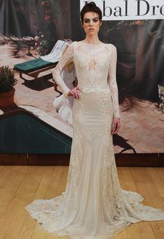 Tattoo Lace Wedding Dress With Long Sleeves | Inbal Dror Fall 2014 | MCV Photo | The Knot Blog