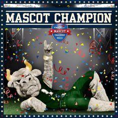 Rocky was the 2013 Capital One Mascot Challenge Winner! #USF