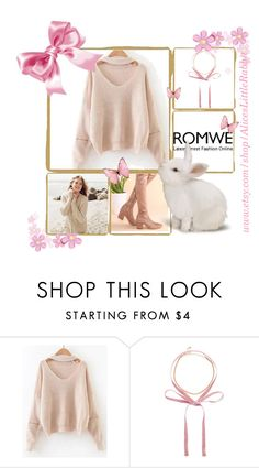 """Romwe 8"" by amra-f ❤ liked on Polyvore featuring Repeat Cashmere, Pink and romwe"