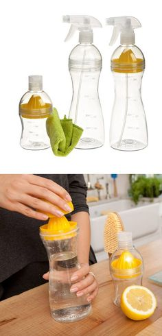 Come Clean Set includes everything you need to make your own natural citrus cleaning solutions.