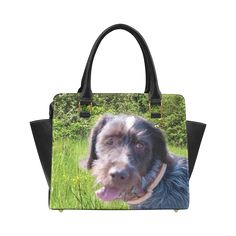 Dog and Flowers Classic Shoulder Handbag. FREE Shipping. #artsadd #bags #dogs