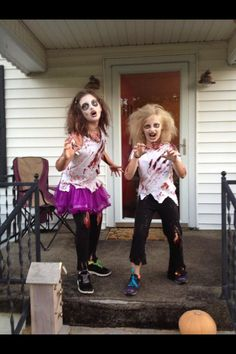 Zombie cheerleader makeup halloween pinterest zombie diy zombie costumes solutioingenieria Image collections