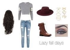 """""""Lazy fall days"""" by holgatelexi on Polyvore featuring Topshop, Current/Elliott, Whistles and Forever 21"""