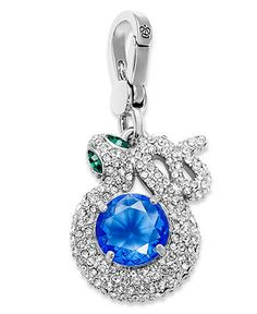 b7d4d7d55 Juicy Couture Charm, Silver-Tone Pave Snake Blue Crystal Charm Jewelry &  Watches - Fashion Jewelry - Macy's
