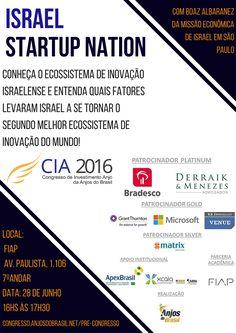 O Cônsul Econômico de Israel em São Paulo Boaz Albaranes apresenta o ecossistema de inovação do país em pré-congresso da Anjos do Brasil.