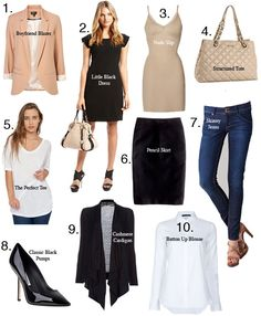 Back to Basics: 10 Items Every Girls Needs in Her Closet. thx tfs