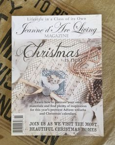 "RARE Jeanne D' Arc Living Magazine ""Christmas Is Near"" 11th Issue 2013 