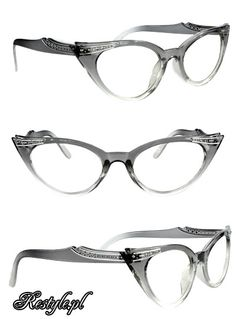 Cat eye glasses - Gray & Clear
