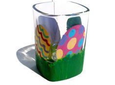 Easter Shot Glass  Pastel Easter Egg  Hand by BeyondTheBarrel, $8.00