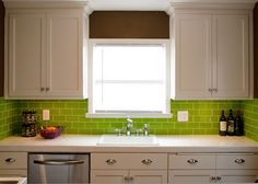 Modern Kitchens Decorated In Yellow And Green Colors Green