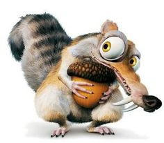 I love Scrat from the Ice Age movies; he's hilarious!