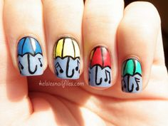Kelsie's Nail Files: Umbrella manicure inspired by PeaceLoveandPolish