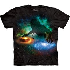 Galaxy DJ Shirt Tie Dye Adult T-Shirt Tee Officially Licensed Available in Small, Medium, Large, XL, & Dj Galaxy, Galaxy T Shirt, Galaxy Space, 3d T Shirts, Band Shirts, School Bags For Boys, Tshirts Online, Graphic Tees, Classic T Shirts