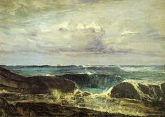 JAMES MCNEILL WHISTLER. Blue and Silver - The Blue Wave Biarritz, 1862, oil on canvas.