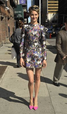 Shailene Woodley  wearing Valentino's butterfly print.