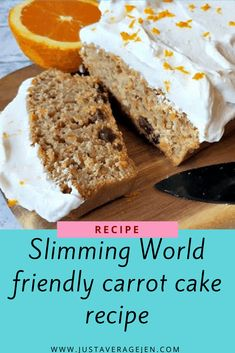 The BEST Slimming World carrot cake recipe which is great for low syn snacks that tastes like proper cake and is so easy to make you will love it! Slimming World Carrot Cake, Slimming World Recipes, Slimming World Deserts, Pear And Almond Cake, Almond Cakes, Buckwheat Cake, Muffins, Fast Food, Cake Recipes