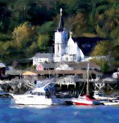 Church Harbor by Bob Smerecki Alison Johnson, Impressionism, Statue Of Liberty, Bob, Statue Of Liberty Facts, Statue Of Libery, Bob Cuts, Bob Sleigh, Impressionist