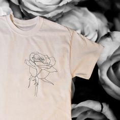 Rose T-shirt by RibbedShop on Etsy