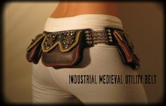 Gypsy Medieval Industrial Steam Punk Utility Belt (will custom make to size)