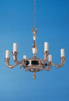6 Light Leaf Arm Empire Chandelier In Bronze And Polished Br Use Suffix B P