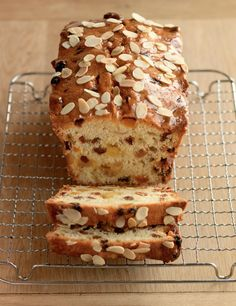 A recipe by Paul Hollywood, this light fruit cake is layered with chunks of marzipan for a beautiful almond flavour. Marzipan Fruit, Marzipan Cake, British Baking, British Bake Off, Baking Recipes, Cake Recipes, Dessert Recipes, Flour Recipes, Easy Loaf Cake Recipe