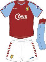 Aston Villa home kit for 2004-05.