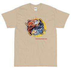 Phoenix Ying Yang Short Sleeve T-Shirt - Gotta Have it All! This Gotta Have It All phoenix ying yang short sleeve t-shirt makes for a great staple piece in any wardrobe! It has a classic fit with thick cotton fabric. Men's Shirts And Tops, Tee Shirts, Staple Pieces, Graphic Shirts, Gaming Apparel, Online Shopping Clothes, Short Sleeve Tee, Phoenix, T Shirts