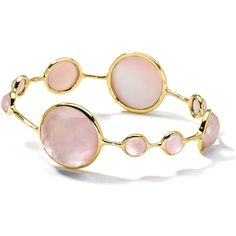 Ippolita 18k Gold Rock Candy& Lollipop Bangle Bracelet ($2,194) ❤ liked on Polyvore featuring jewelry, bracelets, pink, 18k gold bangle, 18k bangle, gold hinged bracelet, pink bangle bracelet and bangle bracelet