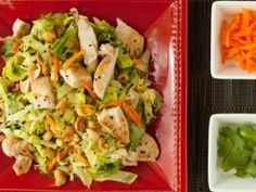 """Chinese Chopped Chicken Salad with """"Wok""""-Fried Spicy Peanuts"""