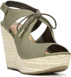 Shop Now - > https://api.shopstyle.com/action/apiVisitRetailer?id=625089003&pid=uid6996-25233114-59 Women's Vicky Wedge Sandal -Olive Green ...