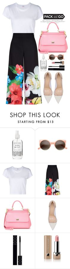 """""""Untitled #143"""" by jade-714 ❤ liked on Polyvore featuring Herbivore Botanicals, H&M, Ted Baker, Dolce&Gabbana, Gianvito Rossi, Gucci, Marc Jacobs, tokyo and Packandgo"""