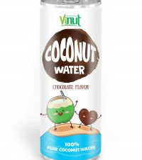 OEM Coconut water 250ml Aluminium can Natural Coconut water Chocolate flavour - OEM Beverage Manufacturers NFC