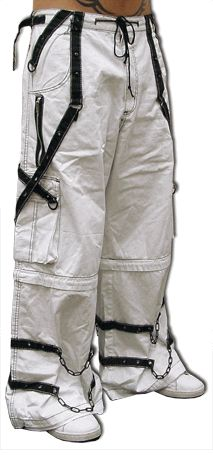 Tripp Ghost White Bone Pants with Zip Off Legs