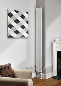 The Water Lily is a tall slimline radiator with flat rectangular tubes, available in single and double. House Design, Room Design, Interior, Decor Design, Radiators Living Room, House Styles, Home Decor, Remodeling Projects, Cosy Living Room
