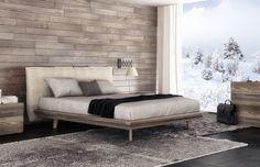 Motion modern platform bed by Huppe, Canada. Designed by Joel Dupras.