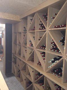 réalisation dune cave à vin chez un particulier Cellar Design, Rack Design, Home Wine Cellars, Basement Bar Designs, Wine House, Wine Rack Wall, Billiard Room, Bar Lounge, Gardens