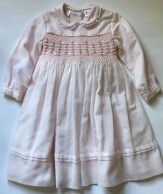 ae6e3c0d3cd38 Sarah Louise Light Pink Smocked Long Sleeve Dress 2 Years Rose Easter  Classic #SarahLouise #