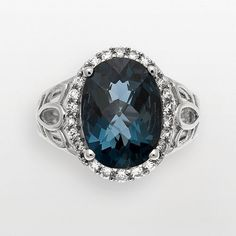 Sterling Silver London Blue Topaz and...   $400.00