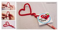 Kids craft idea - heart pencil topper for Valentines Day