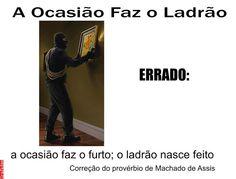 Grafados: Machado de Assis - A ocasião faz o furto (Opportunity makes theft) #furto #roubo