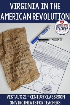 Are you a Virginia Studies teacher, looking for Virginia in the American Revolution activities? Here are seven fun ideas and activities that are sure to get your students excited about Virginia Studies!#vestals21stcenturyclassroom#virginiateacher#virginiastudies#virginiaintheamericanrevolution