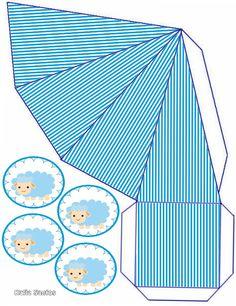 Caja triangular para bebé.
